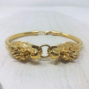 18K gold plated dragon head bracelet